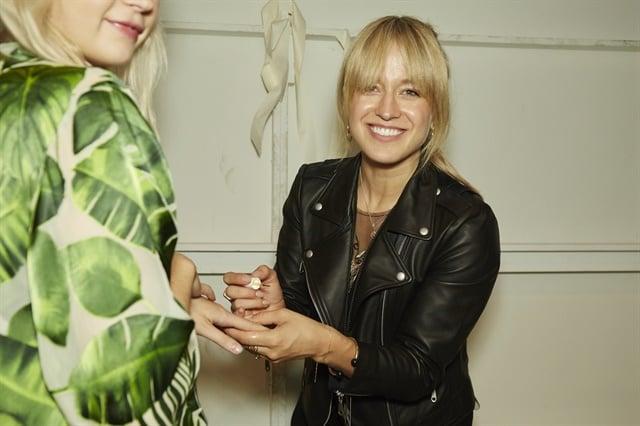 <p>Rita Remark backstage at the Alice + Olivia show.Photo courtesy of Essie.</p>