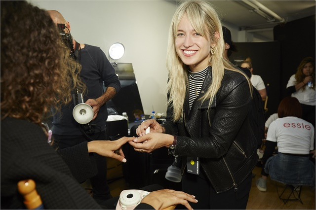 Rita Remark provided nails for the Alexander Wang NYFW show.Image courtesy of Essie.