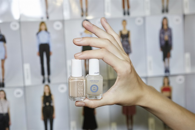 Essie Au Natural and Matte About You for Self-Portrait. PHOTO CREDIT: Jonathan Pozniak for essie