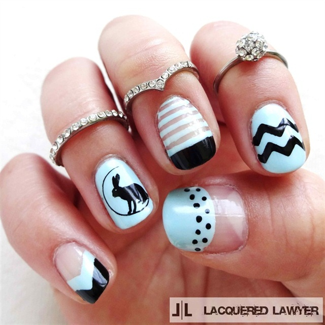 "<p>Via <a href=""http://nailartgallery.nailsmag.com/lacqueredlawyer/photo/401663/happy-easter"">Nail Art Gallery</a></p>"