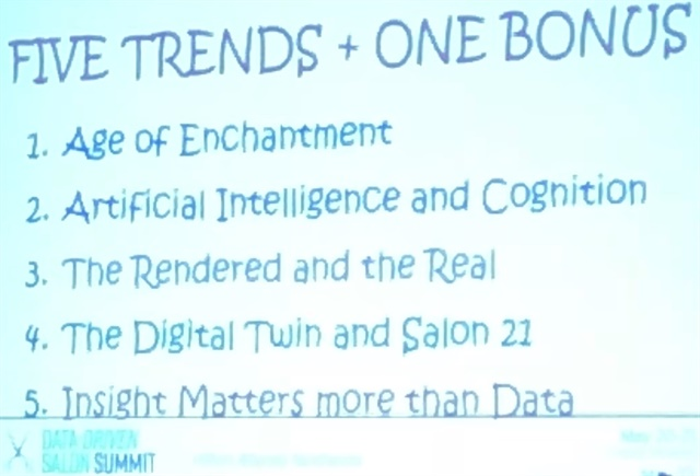 <p>Trends from one of the keynote presenters</p>