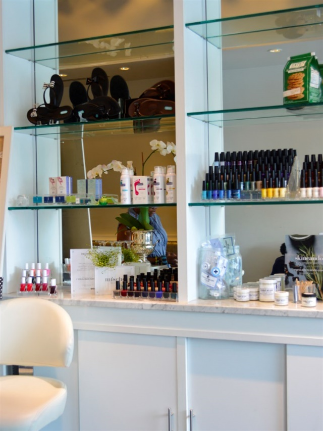"The Emerald Door in Silver Spring, Md. refers to itself as a ""green beauty spa"" because it offers facials and nail services"