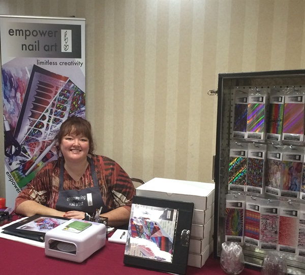 <p>I was at the CNTC on behalf of Empower Nail Art.</p>