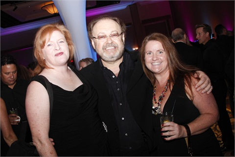 Schaeffer at City of Hope's 2012 Spirit of Life Award gala with NAILS' Cyndy Drummey (left) and Hannah Lee (right).