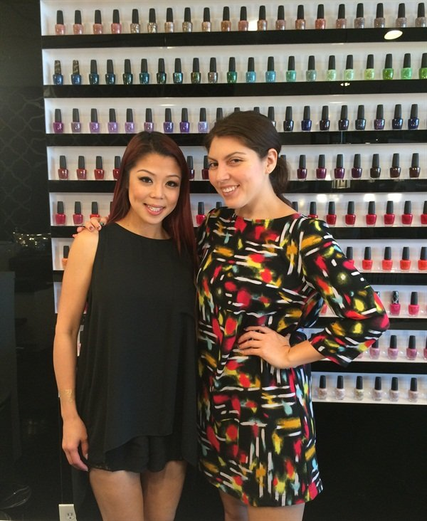 Me (right) with Glo owner Tracy Tran.
