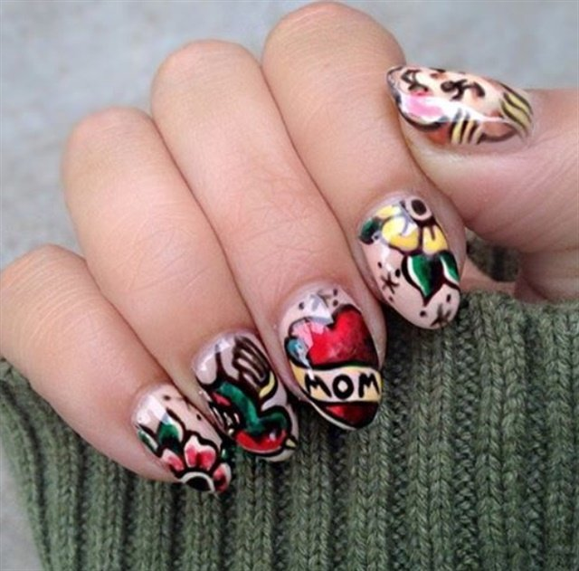 Tattoo nail art trends nails magazine hellobirdielab prinsesfo Image collections