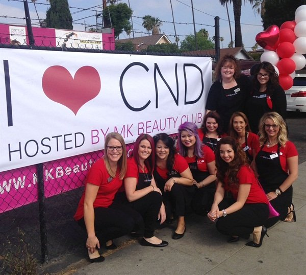 <p>The CND team kicks off I Heart CND at MK Beauty Club in Los Angeles.</p>