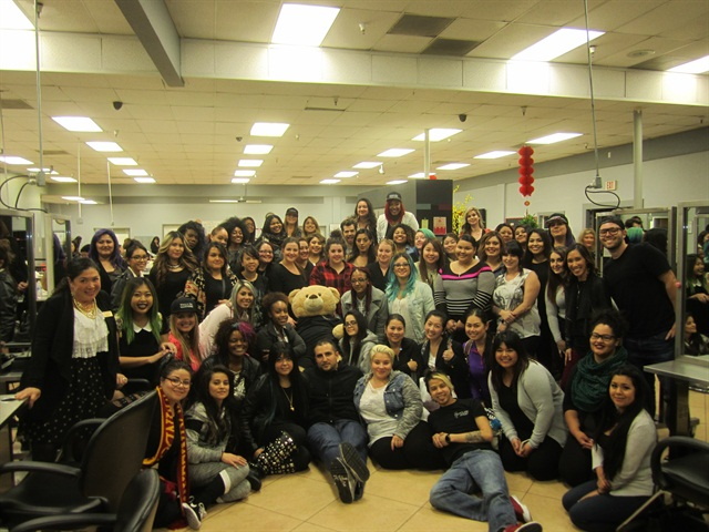 More than 60 nail techs gathered at Advance Beauty College for VBP's Dream Team class