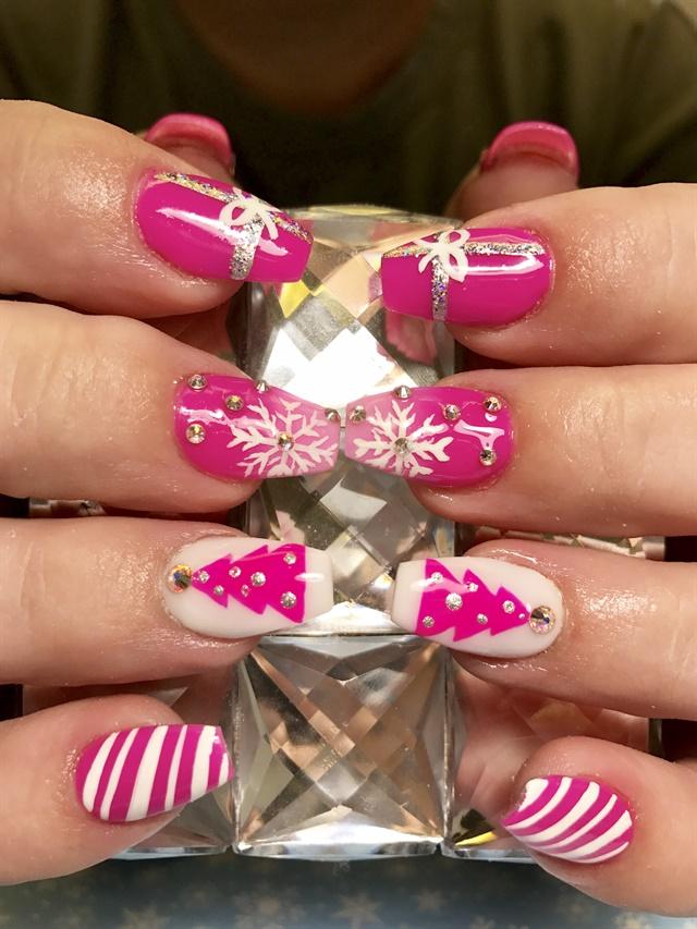 Victoria Martin Monroe Co Pensacola Fla Victorianailz Keywords Christmas Nail Art