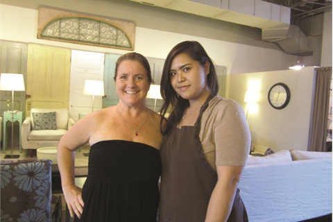 <p>Nail tech Jessica Nguyen (right) has been licensed for three years, and she's been an employee at Sweet Life for the last two.</p>