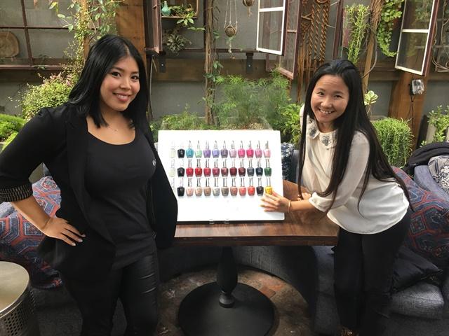 <p>Nail tech Darlene&nbsp;Sritapan (left) and VietSALON's Anh Tran</p>