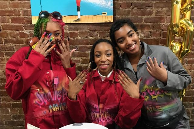 <p>Three of Junie Bee's nail techicians</p>