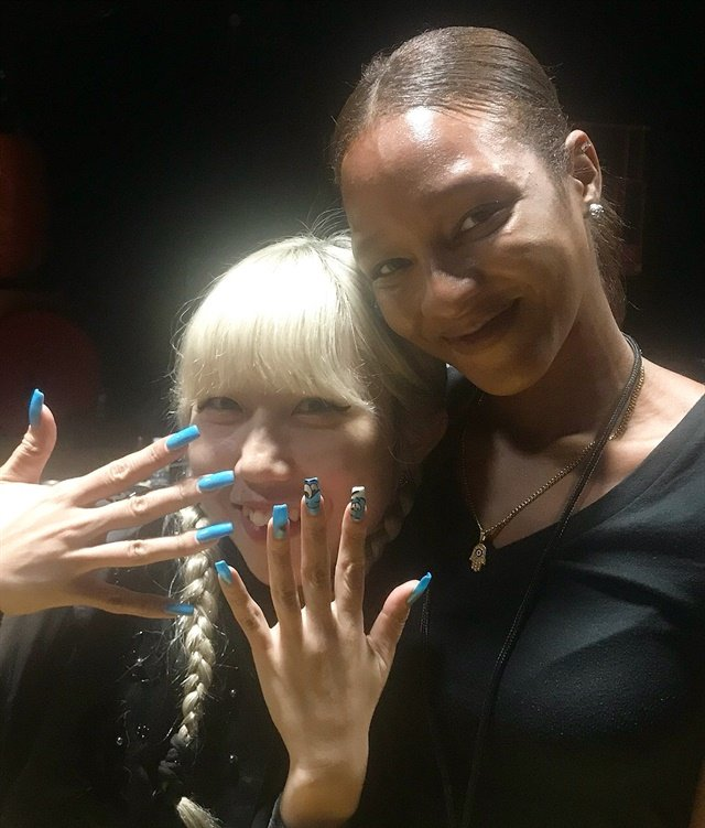 Mei Kowagiri and Tiffany Williams created nail designs for Tom Ford's NYFW show.