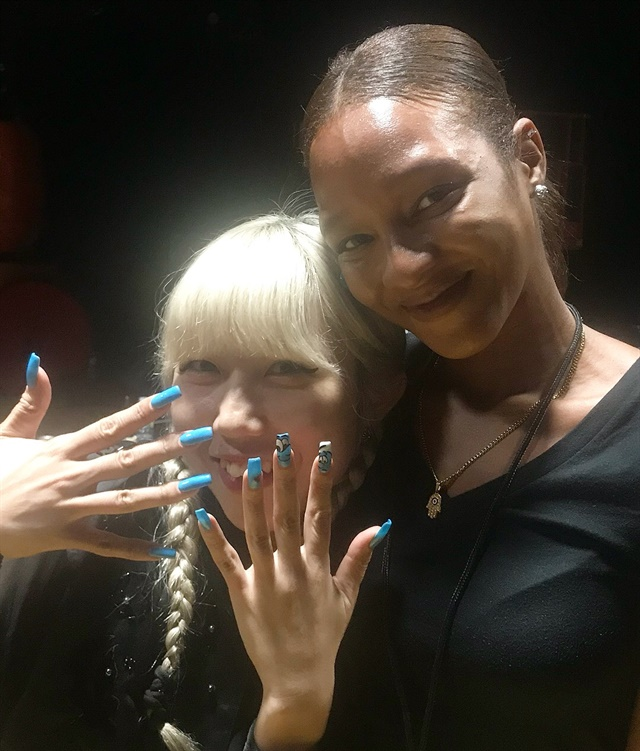 <p>Mei Kowagiri and Tiffany Williams created nail designs for Tom Ford's NYFW show.</p>