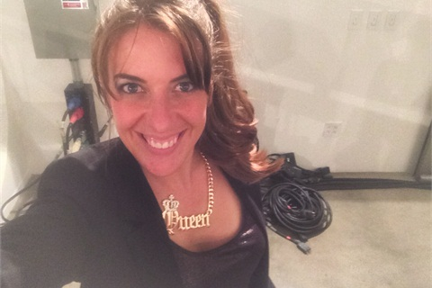 """<p>I was so honored when the CND girls gave me this """"Queen"""" necklace. They really made me feel welcome.</p>"""