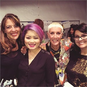 Another great shot working backstage with Michele Huynh, Jan, and Heather Davis.