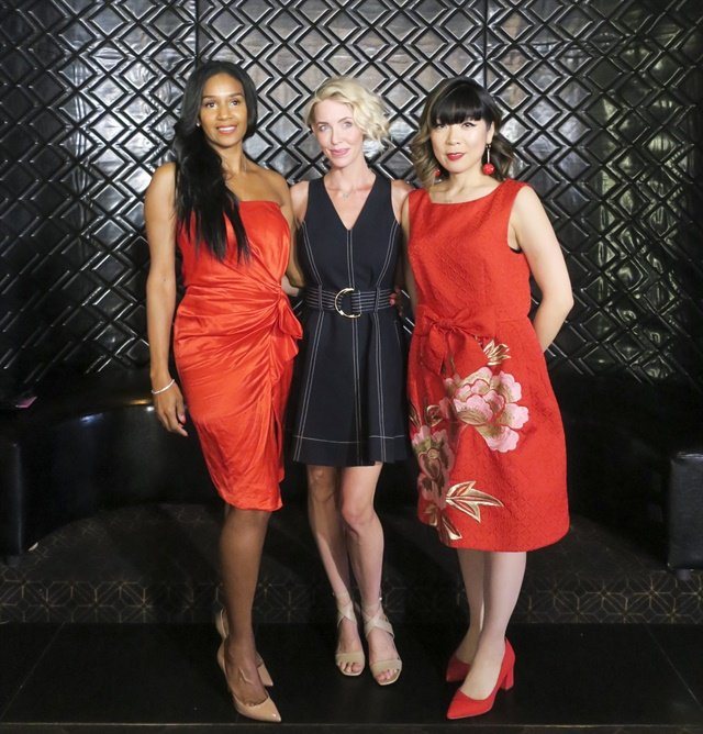 Nominees for Excellence in Nail Styling: Gina Edwards, Jenna Hipp, and Yoko Sakakura