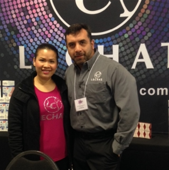 <p>Jenny Nguyen and Daniel Torres Buenabad of Le Chat</p>
