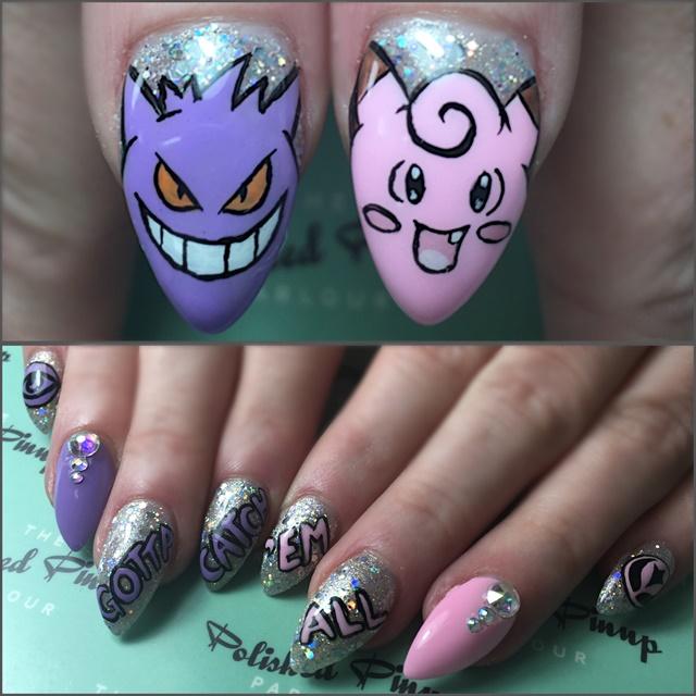 Alaina Partridge, The Polished Pinup Parlour, Winnipeg, Manitoba, Canada  @thepolishedpinup. You Might Also Like: Pokemon Nail Art ... - Day 204: Pokemon Go Nail Art - - NAILS Magazine