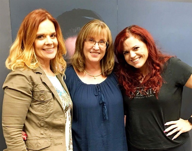 Here are Nancy (fellow AII educator), Michele, and Jessica (class instructor),
