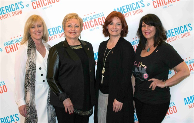 <p>The INTA Certification Committee members pictured left to right: Lorrene Conino, Salon Lorrene, Palatine, Ill., and treasurer of Cosmetologists Chicago; Katharin von Gavel, Footlogix; Amber Edwards, Mario Tricoci Hair Salons & Day Spas; and Athena Elliott, Nail Talk Radio. Not pictured: Jan Arnold, CND; Sigourney Nuñez, NAILS Magazine; Lydia Sarfati, Sarkli-Repêchage; Douglas Schoon, Schoon Scientific; Trisha Trackman, nail care consultant; and Jessica Vartoughian, Jessica Cosmetics.</p>