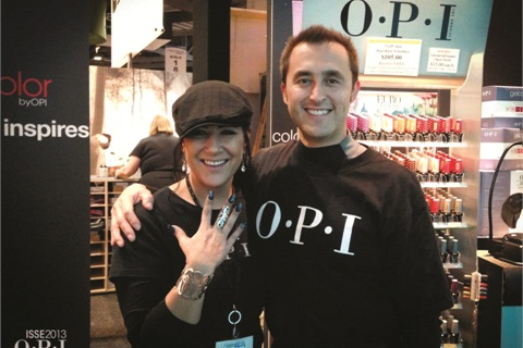 <p>Renee Meyers<br />Lead account executive/show lead for OPI Products Inc. Here she is at ISSE Long Beach 2013 with OPI director of sales Herman Paez. <br /><br /></p>