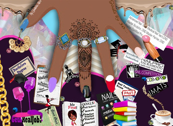 My Mood board that I created to help me win the BCL/CND/Tippi Hedren Scholarship.