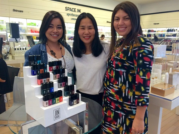 <p>NAILS assistant editor Sigourney Nuñez, Jin Soon Choi, and senior editor Beth Livesay.</p>