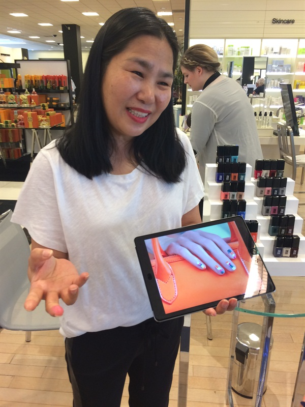 <p>Choi shows us negative space nail art inspired by her spring/summer line and Tila March collab.</p>
