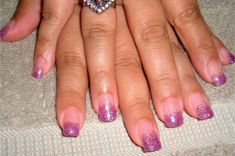 <p>These great nails are quite a change from my usual natural nail manicures.</p>