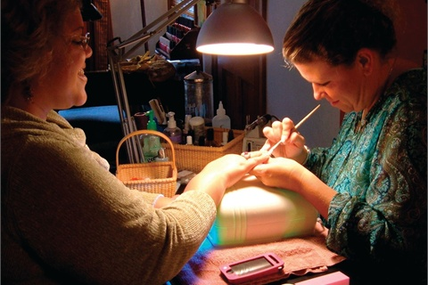 <p>Longtime friend Michele Cowan does my nails.</p>