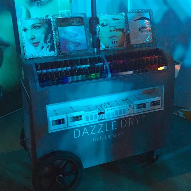 Dazzle Dry's dazzling cart full of polish