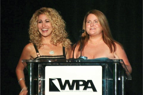 <p>Art director Danielle Parisi and editor Hannah Lee happily accepted the award for Best Beauty and Fashion trade magazine.</p>