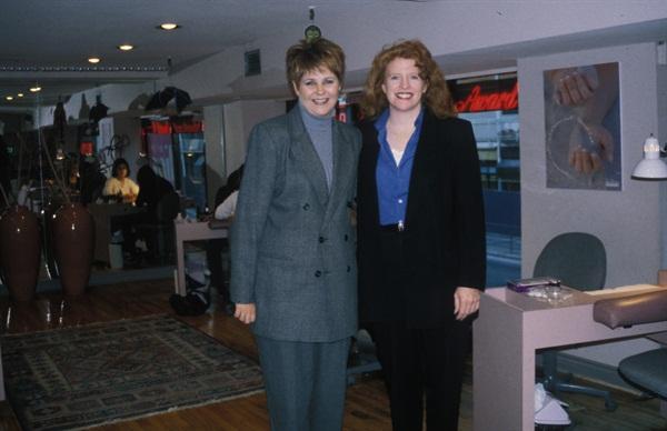 <p>Debbie Krakalovich (left) and NAILS editor Cyndy Drummey (right)</p>
