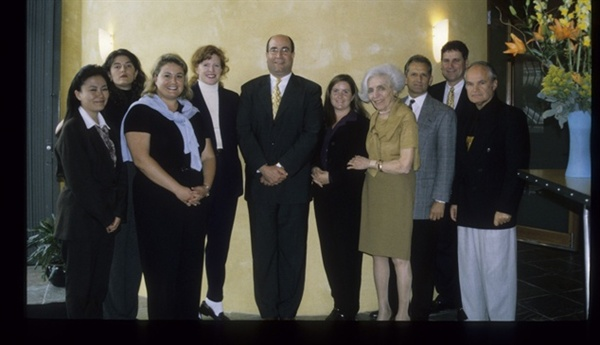 <p>Jerry Mennicken, far right, was one of the original founders of Mehaz. Marc Spilo, center, purchased the company in 1995.</p>