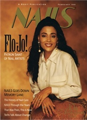 "<p>Lisa Postma sculpted <a href=""http://www.nailsmag.com/article/19/flo-jo-has-it-all"" target=""_blank"">Florence Griffith Joyner's</a> nails for our February 1993 cover.</p>"