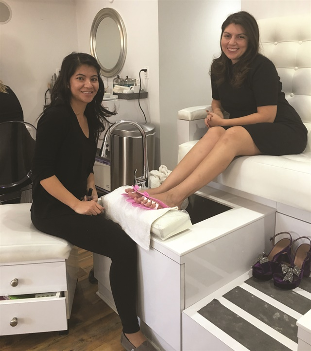One of my most recent pedicure experiences in Philadelphia.