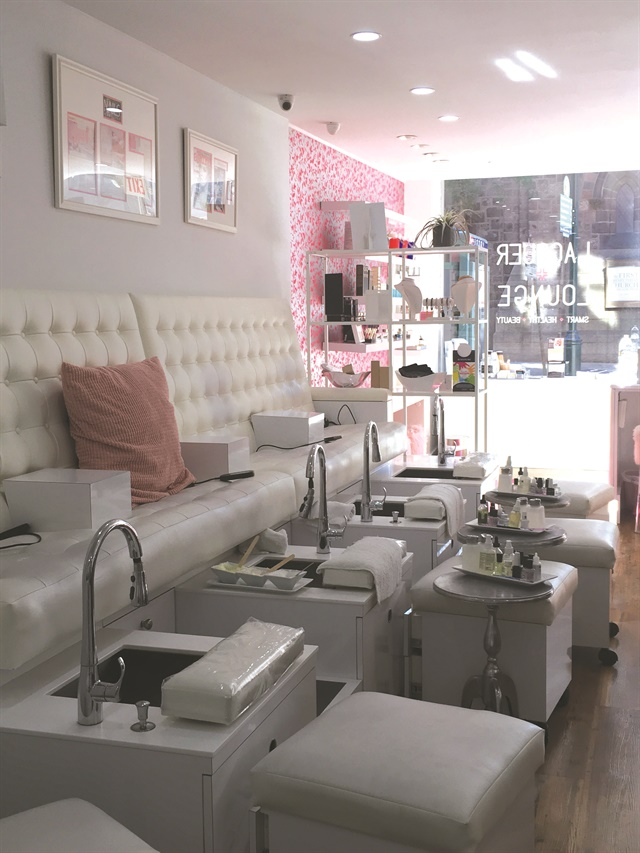<p>Because the salon is on a busy street, clients are buzzed in <br />for safety.</p>