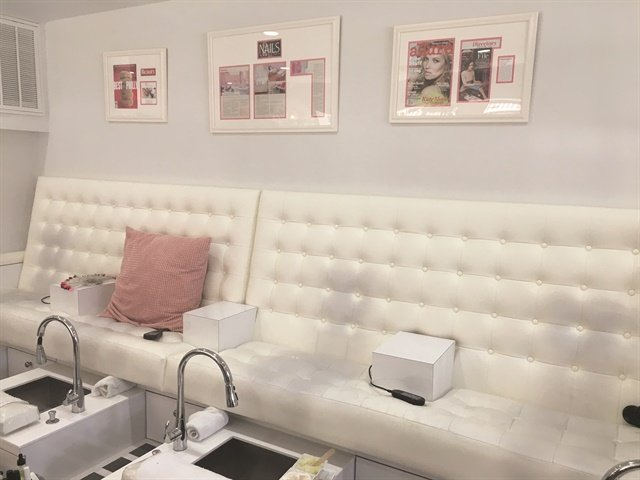 <p>Six manicure stations and six pipeless pedicure stations accommodate clients.</p>