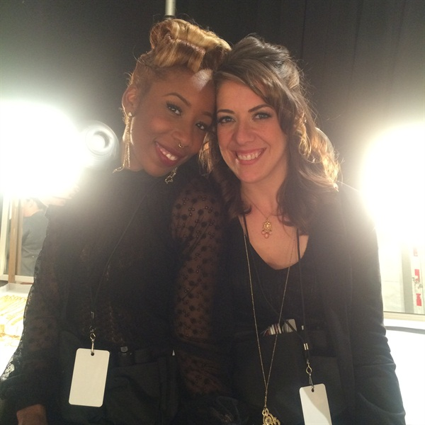 <p>NAILS Next Top Nail Artist winner Lavette Cephus (left) and last year's first runner-up Lauren Wireman got to work together at CND's Design Lab for NYFW.</p>