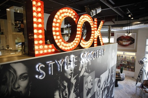 LOOK is two stories and offers clients an extensive choice of beauty services.