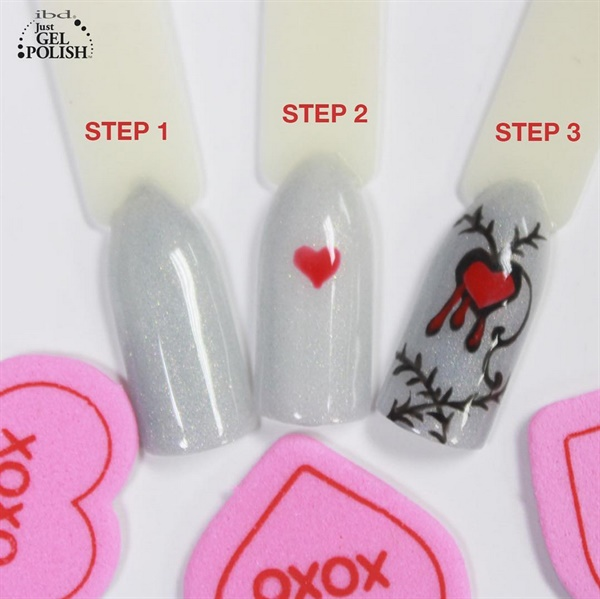 Dripping With Love: Valentine\'s Day Nails - - NAILS Magazine