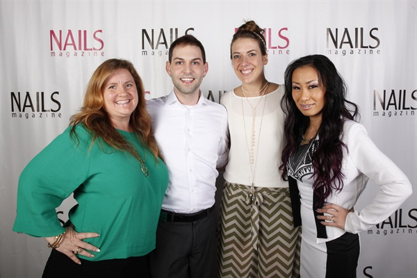 <p>NAILS editor Hannah Lee with the Top 3: Buddy Sims, Lauren Wireman, and Ryoko Garcia.</p>