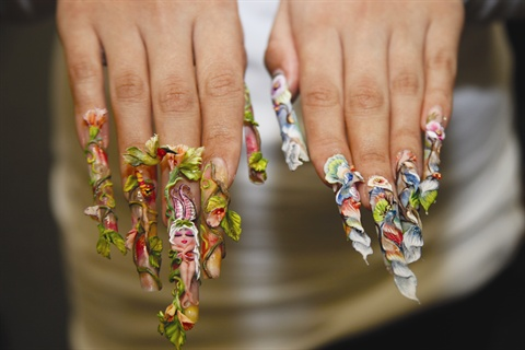 Simmonds made some of the elements, like the hummingbird and tree fairy, before arriving at the NAILS studio.