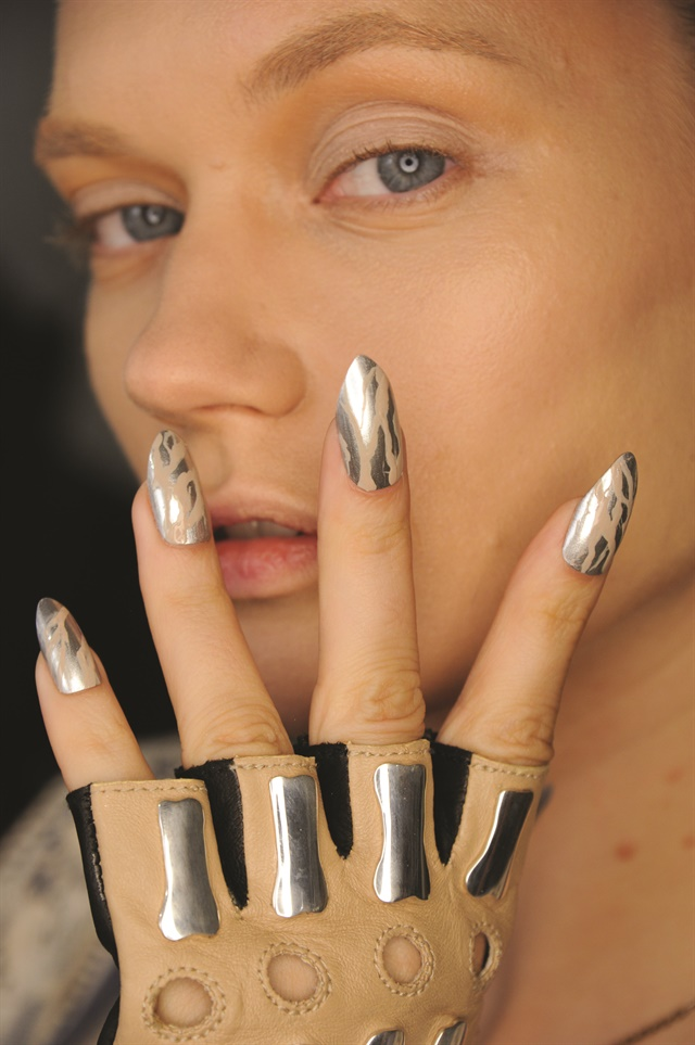P New Ways To Play With Chrome Like This Print Seen At Nyfw