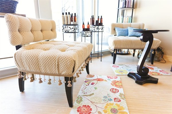 Choosing your own décor is one of the perks of renting from MY SALON Suite.