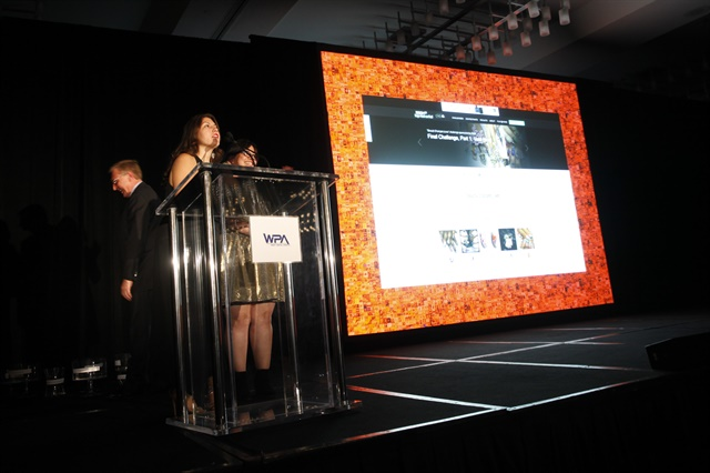 <p>Senior editor Beth Livesay accepted the award for Best Use of Social Media.</p>