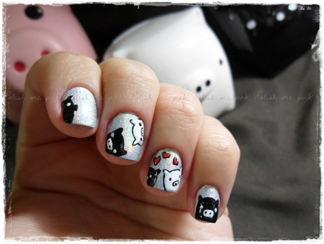 Via Polish me pink! - Pig Nail Art For National Bacon Day - - NAILS Magazine