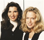 <p>Michelle Yaksich (right) and her former partner Terri DeCort in 1994</p>