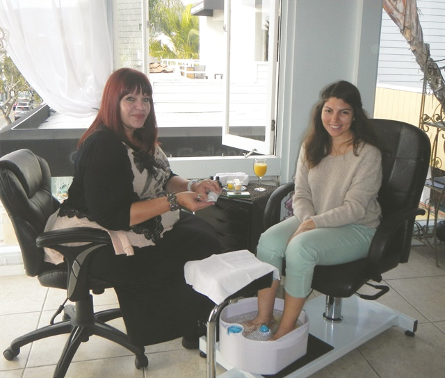 My first pedicure while working at NAILS, back in 2012.
